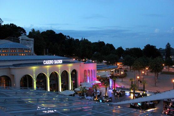 Casino Baden Blick herab von der Festsaal-Terrasse
