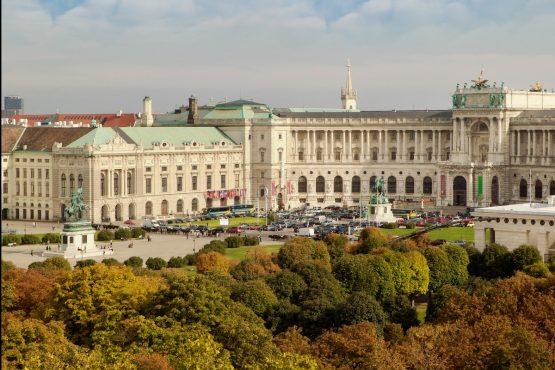 Hofburg Außenansicht Vogelperspektive